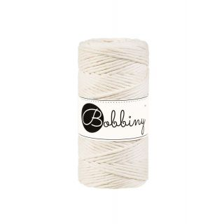 Bobbiny Macrame Triple Twist 3 mm - Naturel