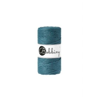 Bobbiny Macrame Triple Twist 3 mm - Peacock Blue
