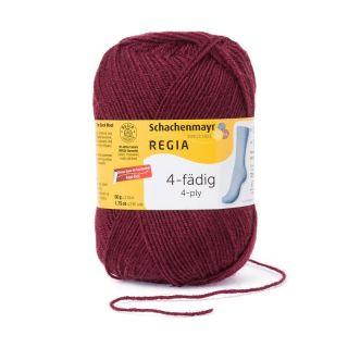 Regia sokkenwol 4-draads burgundy 315 - Schachenmayr