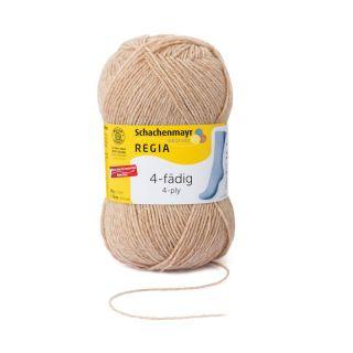 Regia sokkenwol 4-draads camel gemeleerd 17