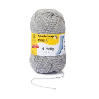 Regia sokkenwol 4-draads licht grijs gemeleerd 1991 - Schachenmayr