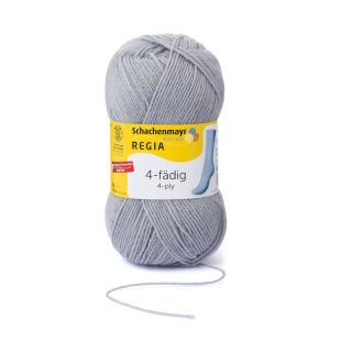 Regia sokkenwol 4-draads licht grijs 1968 - Schachenmayr