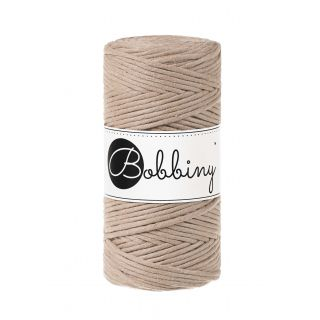 Bobbiny Macrame Triple Twist 3 mm - Sand