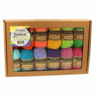 Scheepjes Softfun Mini colour pack rainbow