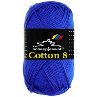 Scheepjeswol Cotton 8 kobaltblauw 519