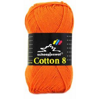 Scheepjeswol Cotton 8 oranje 716