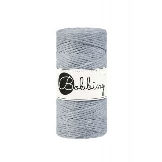Bobbiny Macrame Triple Twist 3 mm - Silver